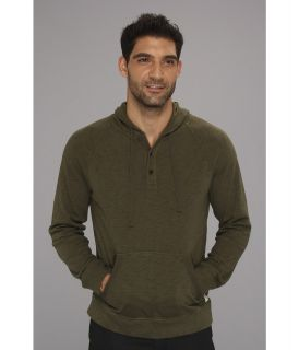 Lucky Brand Indian Hoodie Mens Sweatshirt (Green)