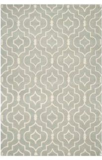 Safavieh CHT736E Chatham Collection Wool Handmade Area Rug, 4 Feet by 6 Feet, Grey and Ivory