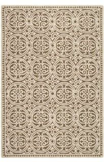 Safavieh Cambridge Collection CAM232A Brown and White Wool Area Runner, 2 Feet 6 Inch by 10 Feet   Area Rugs