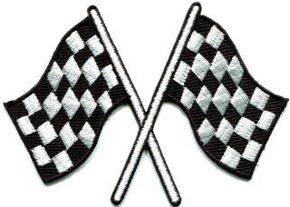Checkered Flag Chequered Auto Car Racing Rockabilly Applique Iron on Patch S 601 Fast Shipping Ship Worldwide From Hengheng Shop  Other Products