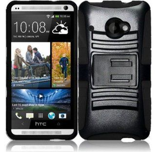 Pleasing Black Premium Double Protection 2 in 1 Hard + Silicon Rugged Hybrid D Fendr Case Cover Protector with Holster Swivel Belt Clip and KickStand for HTC Desire 601 Zara (by Virgin Mobile / Sprint) with Free Gift Reliable Accessory Pen Cell Phones &am
