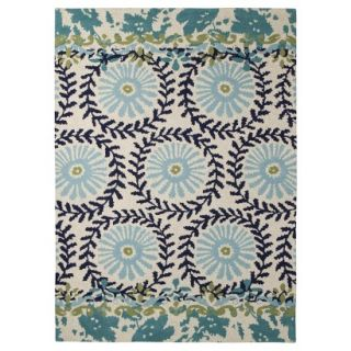 Boho Boutique Medallion Floral Area Rug   Blue (7x10)
