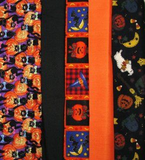 Set of 5 FAT QUARTERS Fabric ~ HALLOWEEN THEME ~ Quilt ~ Crafts ~ Sewing  Other Products