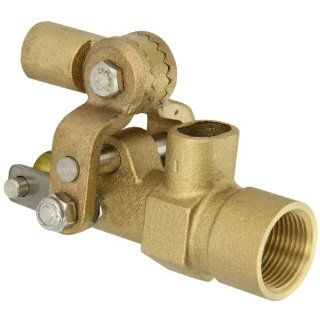 "Robert Manufacturing RF605T High Turbo Series Bob Red Brass Float Valve, 1/2"" NPT Female Inlet x Free�Flow Outlet, 27 gpm at 85 psi Pressure Industrial Float Valves"