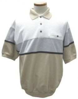 French Terry Banded Bottom Polo Shirt at  Men�s Clothing store