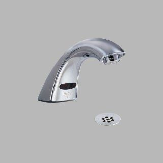 Delta Faucet 590 HGMHDF Electronics, Single Hole Electronic Lavatory Faucet, Chrome   Touchless Bathroom Sink Faucets