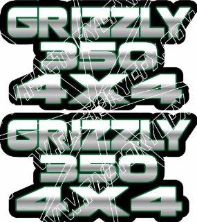 Yamaha Grizzly 350 Gas Tank Graphics Green 4x4  Other Products