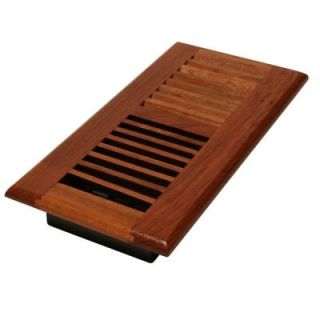 Decor Grates 2 1/4 in. x 12 in. Solid Brazilian Cherry Wood Floor Register with Damper Box WLC212 N