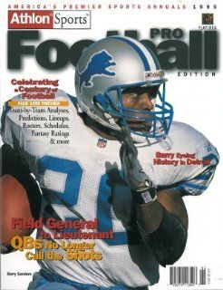 Barry Sanders unsigned Detroit Lions Athlon Sports 1999 NFL Pro Football Preview Magazine Sports Collectibles