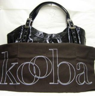 Kooba Blake Black Patent Leather Bag Purse Handbag Clothing