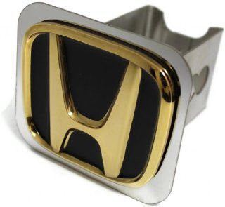 "Black Gold Honda Logo Hitch Cover 2"" Hitch Receivers Cover Plug Stainless Steel Automotive"