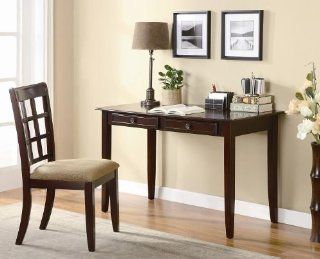 Inland Empire Furniture Harlan Cherry Solid Wood Desk & Chair   Home Office Desks
