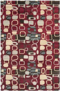 Safavieh WYD621A Wyndham Collection Area Rug, 5 Feet by 8 Feet, Red