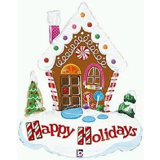 "Cute Christmas Gingerbread House 34"" Mylar Balloon Kitchen Products Kitchen & Dining"