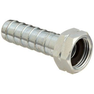 "Dixon SLS647 Plated Steel Hose Fitting, Long Shank Coupling, 3/4"" GHT Female x 3/4"" Hose ID Barbed"