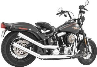 2012 Harley Davidson FLS Softail Slim Upsweeps Exhaust System   Star End Cap   Chrome Body with Chrome Tips, Manufacturer Freedom Performance, UPSWEEPS STANDARD   CHR Automotive