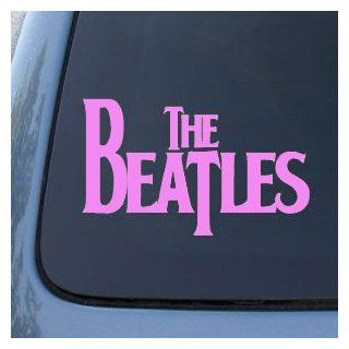 "The BEATLES Band Logo   6"" SOFT PINK   Vinyl Decal WINDOW Sticker   NOTEBOOK, LAPTOP, WALL, WINDOWS, ETC. Automotive"