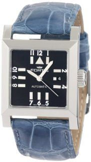 Fortis Women's 629.20.71 LC.05 Square SL Automatic Date Leather Croc Band Watch at  Women's Watch store.