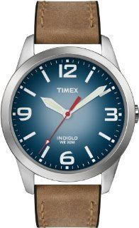 Timex Men's T2N631 Weekender Classic Casual Brown Leather Strap Watch at  Men's Watch store.