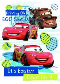 "Easter Disney Clings 12"" x 17"" Reusable Vinyl Wall Decal, Mirror and Window Cling Home Wall Decorations MADE IN USA (Cars Lightning McQueen and Tow Mater)   Stained Glass Window Panels"