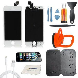 Zeetron iPhone 5 Premium White Screen Repair Kit Includes Tools, Screwmat, Screen Protector, Lighting cable and Cloth Cell Phones & Accessories