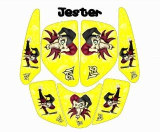MotoGHG Yellow Jester Graphic Kits for Yamaha Raptor 660 Automotive