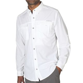 ExOfficio BugsAway(R) Halo Shirt   UPF 30+  Long Sleeve (For Men)   WHITE (S )