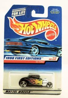 '32 FORD * BLACK * 1998 FIRST EDITIONS SERIES #7 of 40 HOT WHEELS Basic Car 164 Scale Series * Collector #636 * Toys & Games