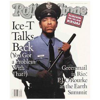 Rolling Stone Magazine # 637 August 20 1992 Ice T (Single Back Issue) Rolling Stone Books