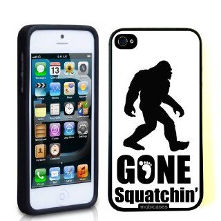 Gone Squatchin Big Foot   Protective Designer BLACK Case   Fits Apple iPhone 5 / 5S Cell Phones & Accessories