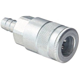"Dixon Valve DC644 Steel Air Chief Automotive Interchange Quick Connect Air Hose Socket, 3/8"" Coupler x 3/8"" Hose ID Barbed, 70 CFM Flow Rating Quick Connect Hose Fittings"