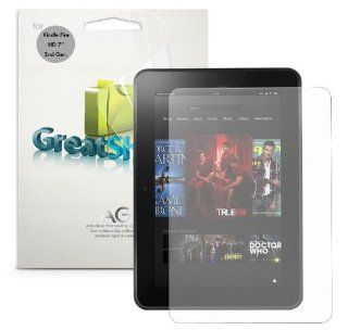 "GreatShield DUEL Mark II Anti Glare (Matte) Screen Protector for  Kindle Fire HD 7"" Inch Tablet (2nd Generation, Oct 2013) NEWEST VERSION (3 Pack)   LIFETIME WARRANTY Electronics"