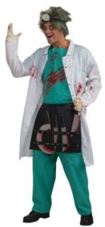 Crazy Surgeon Adult Costume Black Standard One Size Clothing