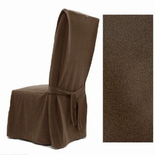 Ultra Suede Coffee Brown Dining Chair Covers Set of Four 647   Dining Chair Slipcovers