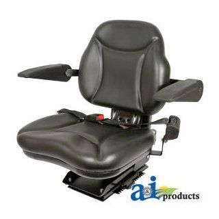 A & I Products Big Boy Seat; w/ Armrests, BLK Replacement for Case IH Part Number BBS108BL