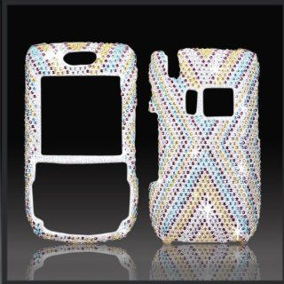 PALM Treo 680/750   X Cross Design   Blue/Yellow/Brown/Silver   Full Rhinestones/Diamond/Bling/Diva   Hard Case/Cover/Faceplate/Snap On/Housing Cell Phones & Accessories