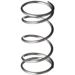 "Compression Spring, 302 Stainless Steel, Inch, 0.24"" OD, 0.018"" Wire Size, 0.683"" Compressed Length, 1.75"" Free Length, 1.07 lbs Load Capacity, 1 lbs/in Spring Rate (Pack of 10)"