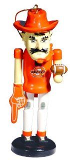 "6"" NCAA Oklahoma State Cowboys Mascot Wooden Nutcracker Christmas Ornament   Decorative Hanging Ornaments"