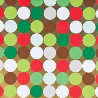 Jillson Roberts Christmas Gift Wrap, Holiday Dot Gold, 6 Count (XR687)  Gift Wrap Paper