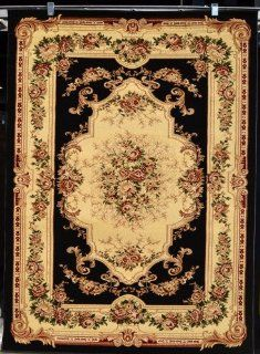 Black Ivory Burgundy Green Beige 8x10 (7'10x10'2) Black Isfahan Area Rug Oriental Carpet Large New 662   Machine Made Rugs
