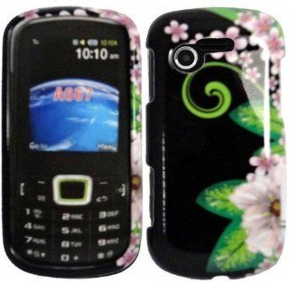 Green Flower Hard Case Cover for Samsung Evergreen A667 Cell Phones & Accessories