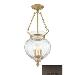 Hudson Valley Lighting 780 OB Three Light Semi Flush Ceiling Fixture from the Gardner Collection, Old Bronze   Ceiling Pendant Fixtures