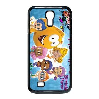 Custom Bubble Guppies Cover Case for Samsung Galaxy S4 I9500 S4 696 Cell Phones & Accessories