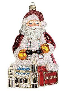 Austria Santa Polish Mouth Blown Glass Christmas Ornament   Decorative Hanging Ornaments