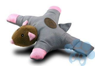 Pet Pal Grey Squirrel Dog Throw and Chew Toy