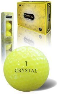Fl Golf Crystal Golf Balls (Yellow)  Distance Golf Balls  Sports & Outdoors