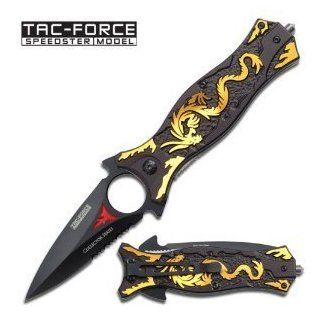 Tac Force TF 707GD Assisted Opening Folding Knife 4.5 Inch Closed Sport, Fitness, Training, Health, Exercise Gear, Shape UP  Tactical Folding Knives  Sports & Outdoors