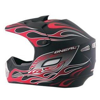O'Neal Racing 707 Flame Helmet   Small/Flat Black/Red Flames Automotive