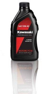 Kawasaki 4 Stroke Motorcycle Engine Oil 10W40 1 Quart K61021 202A Automotive