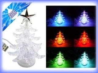 Christmas LED Light Decoration   USB Powered Christmas Tree Light   Cycles Through Blue, Purple, Orange, Red, and Green Colored Light   Kare and Kind   Christmas Lights For Computer